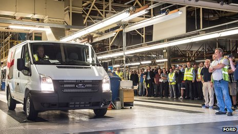 Ford Transit at Ford factory