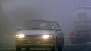 A car in fog