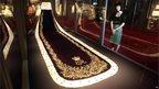 Coronation robe on display at Buckingham Palace