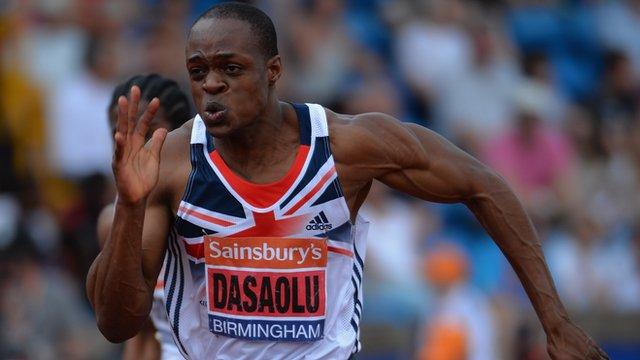 British sprinter James Dasaolu
