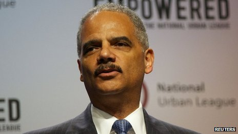 US Attorney General Eric Holder speaks in Philadelphia, Pennsylvania on 25 July 2013