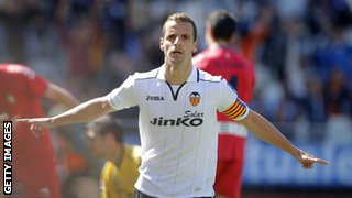 Valencia striker Roberto Soldado