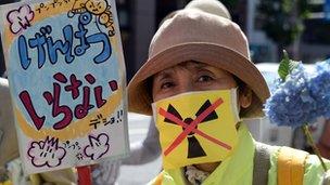 Anti-nuclear protestor