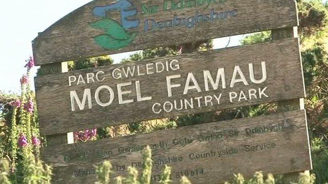 Moel Famau sign