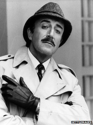 "Comedian and actor Peter Sellers (1925 - 1980) as Inspector Clouseau in ""The Pink Panther Returns"".  (1974)"