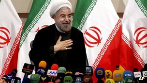 Iranian president-elect Hassan Rouhani