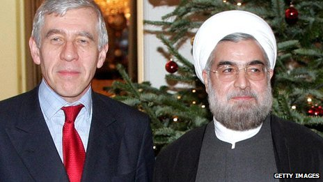 Jack Straw and Hassan Rouhani in 2004