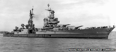 USS Indianapolis in 1945