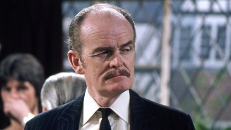 John Barron demonstrating a withering look while in the role of CJ in The Fall and Rise of Reginald Perrin