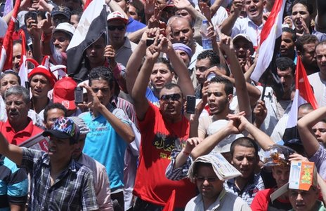 Army supporters in Tahrir Square, 26 July