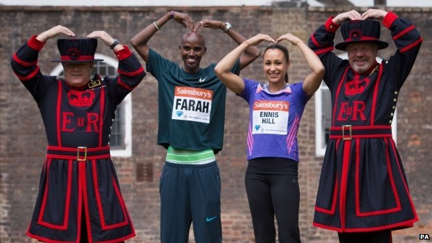 Mo Farah and Jessica Ennis-Hill