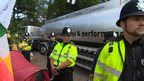 Mobil lorry arrives on site