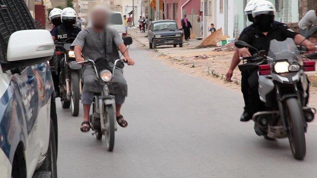 Police detaining suspected Salafist