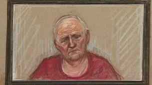 Stuart Hall court sketch