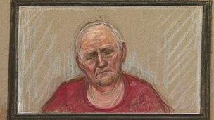 Stuart Hall court sketch
