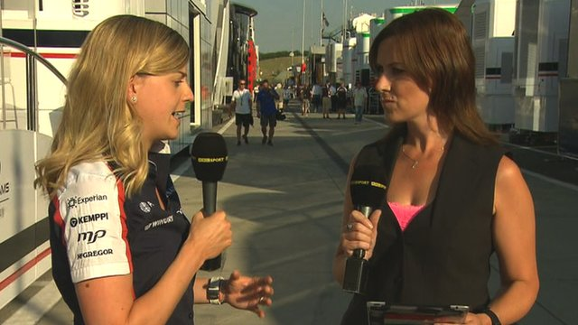 Susie Wolff and Lee McKenzie