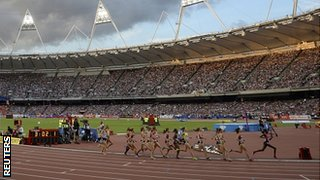 The 3,000m takes place