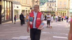 Ian Duff Big Issue seller Bath