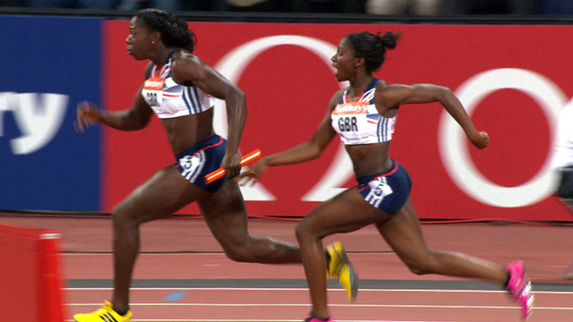 Great Britain women win 100m relay