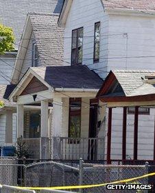 Ariel Castro's former home, at 2207 Seymour Avenue, Cleveland