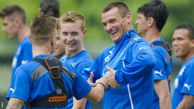 Rangers captain Lee McCulloch in training