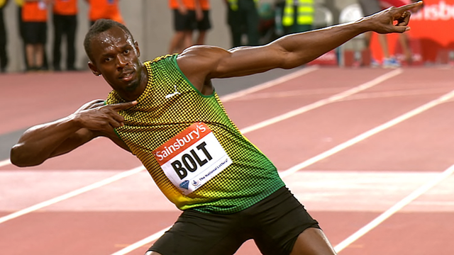 Double Olympic champion Usain Bolt wins the 100m