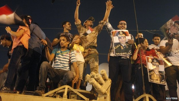 Support for army in Tahrir Square