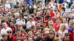 Thousands attended the opening ceremony for the Foyle Cup in Londonderry