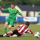 Donegal's Joe McGill and Sam Green of Sheffield United compete in the Under-13 match which ended 0-0