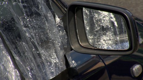 Cars were were also targeted on Friday night