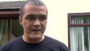 Sean Conlon, whose home was attacked, said he was frightened by the number of people on the street