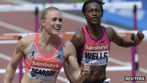 Sally Pearson and Kellie Wells