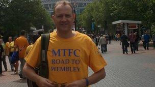 Mark Woodward at Wembley