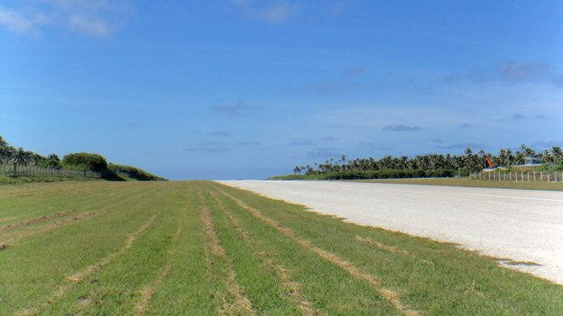 Empty runway at Tonga