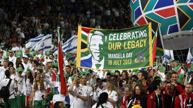 South African delegation in opening ceremony of Maccabiah Games (18 July)