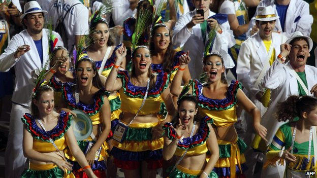 Brazilian delegation in opening ceremony of the Maccabiah Games (18 July)