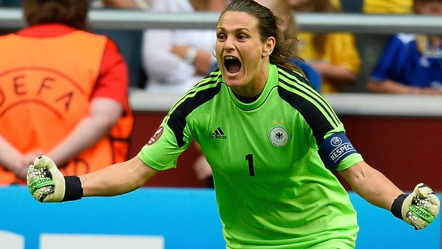 Germany goalkeeper Nadine Angerer