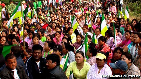 Gorkhaland protest file photo