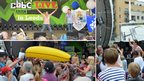 Dick & Dom entertained the crowds in their inimitable style – staging inflatable banana races and chucking water on spectators.