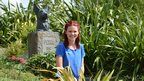 Lindsey Russell in the Blue Peter garden