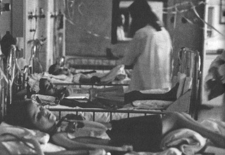 The children on the 'polio ward' in the Clinicas Hospital