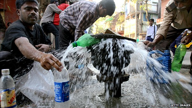 Burst pipe in Kolkata