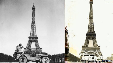 Jeepney at Eiffel Tower