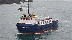 Sark Venture, owned by Isle of Sark Shipping and due to be used on Guernsey-Alderney route