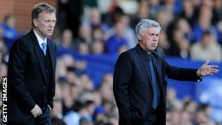 David Moyes and Carlo Ancelotti