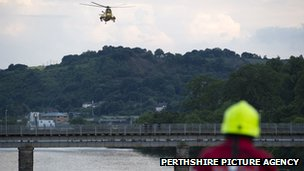 Helicopter over River Tay