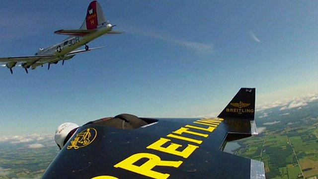 'Jetman' takes to the skies