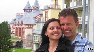 Yulia Schornstein and her husband Sascha