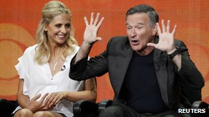 Sarah Michelle Gellar and Robin Williams