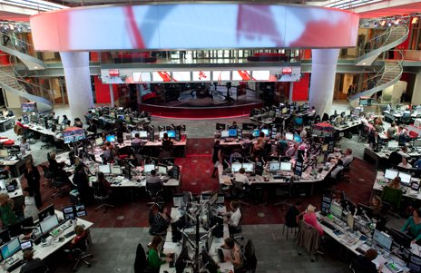 BBC open-plan newsroom